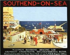 Vintage LNER Southend on Sea Railway Poster by VintagePosterShopUK