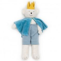 Prince Benjamin. Organic Teddy Bear made in Germany for Bella Luna Toys.