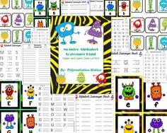 Silly Monster Alphabet Scavenger Hunt.  Write the Room.  Preschool, Kindergarten, Special Education.