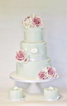 Blue Cake & Mini Cakes