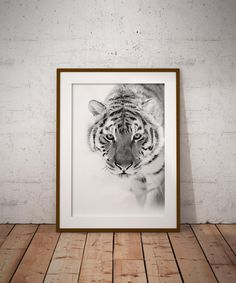 Black and white tiger print download, available on Etsy.com