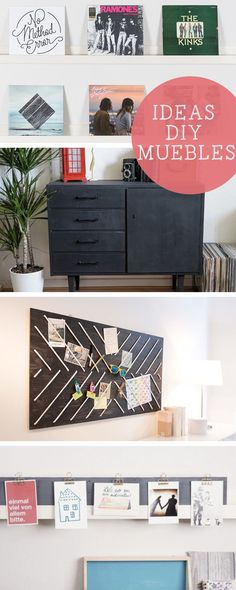 Ideas DIY muebles en DaWanda.es #DIY #doityourself #handmade #hechoamano #deco #decoracion #muebles #furniture #foto #manualidades #estanteria #photo #shelf #shelves #inspiracion #DaWanda