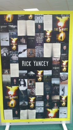 LRC/Library display for visit from 'The 5th Wave' author, Rick Yancey.