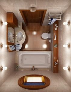 Tiny house bathroom - Looking for small bathroom ideas? Take a look at our pick of the best small bathroom design ideas to inspire you before you start redecorating. Small Bathroom Layout, Modern Small Bathrooms, Tiny Bathrooms, Amazing Bathrooms, Bathroom Ideas, Bathroom Remodeling, Bathroom Storage, Bathroom Inspiration, Compact Bathroom