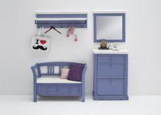 Garderobenkombination LaMer II 4tlg. Brilliantblau Passend zum Möbelprogramm LaMer Kombination bestehend aus: 1 x Sitzbank mit 2 Schubkästen B/H/Tca. 120 x 80 x 40 cm 1...