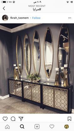New Home Decore Ideas hallway decorating Mirror Decor Living Room, Home Decor Bedroom, Entryway Decor, Foyer, Glam Bedroom, Bedroom Small, Hallway Decorating, Home Decor Furniture, Mirrored Furniture