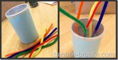 Busy Bag Ideas from Babblin Brook - Including: Pipe Cleaner fun | PomPom Stuff In | Gel Writer | Felt Fishies | Chalk Blocks | Felt Shapes