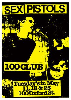 Sex Pistols Concert Poster