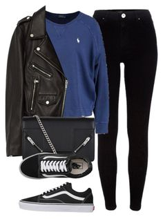 """Untitled #6618"" by laurenmboot ❤ liked on Polyvore featuring River Island, Jakke, Yves Saint Laurent and Vans"