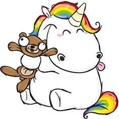 Adorable fat unicorn.