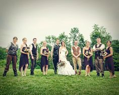 wedding party lord rings wedding