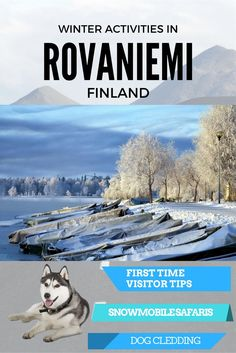 Best winter activities in Rovaniemi, Finland - dog sledding, reindeer sledding, snowmobile safaris, Santa's village and much more! Ski Europe, Europe Travel Tips, European Travel, Lappland, Cool Places To Visit, Places To Travel, Lapland Holidays, Aurora Borealis, Finland Travel