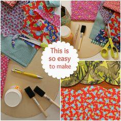 Casa de Retalhos: É de papelão ♥ DIY placemats