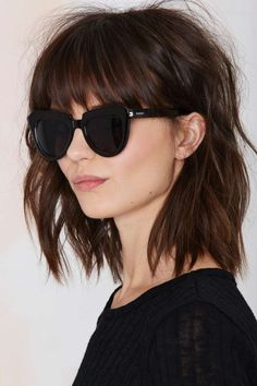 Lob shag with bangs. Love that hair.