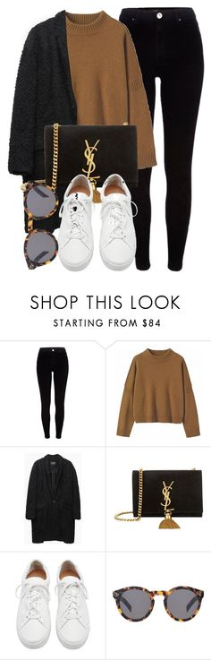 """Untitled #6690"" by laurenmboot ❤ liked on Polyvore featuring River Island, Toast, Isabel Marant, Yves Saint Laurent, Loeffler Randall and Illesteva"