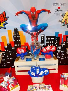 The Amazing Spiderman birthday party! See more party ideas at CatchMyParty.com!