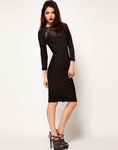 Asos dress with studs and jewels. $141