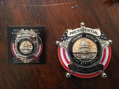Trump/Pence inauguration badge and pin Jan 20, 2017.