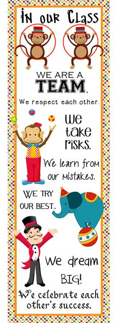 CIRCUS theme classroom decor banners posters clip charts PowerPoint printables by ARTrageous FUN on Teachers Pay Teachers Classroom Quotes, New Classroom, Kindergarten Classroom, Classroom Decor, Classroom Design, Classroom Banner, Kindergarten Quotes, Classroom Setting, Circus Theme Decorations