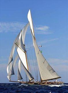 Eleonora, replica of 1910 Herreshoff schooner Westward. 162' 5 in LOA, 136' 2 in on deck, 96' 2 in WL, 27' beam.
