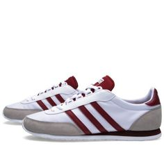 Buy the Adidas Potosino in Running White & Cardinal from leading mens fashion retailer END. - only Fast shipping on all latest Adidas products Adidas Zx, Adidas Samba, Adidas Superstar Vintage, Moda Sneakers, Sneakers For Sale, Adidas Sneakers, Trainers Adidas, Summer Sneakers, Moda Masculina