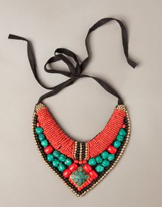 NECKLACE WITH COLOURED STONES - JEWELLERY - WOMAN - United Kingdom