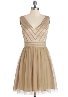 Fairytale of Two Cities Dress in Caramel. What to wear to a wedding in Chicago and then a gala in D.C.? #tan #prom #wedding #bridesmaid #modcloth