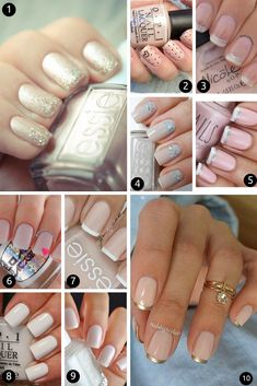 10 ideias lindas e fáceis para as suas unhas de noiva! Inspire-se: http://www.oolhaisso.com/2015/05/10-ideias-unhas-para-noivas.html
