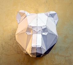 DIY Bear Sculpture. Papercraft bear sculpture by PlainPapyrus