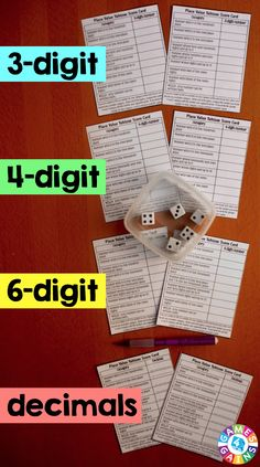 FREE Place Value Yahtzee Game! This is such a fun, clever way to help kids practice place value.