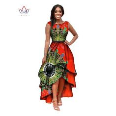 2017 African o-neck dress for women  - Green