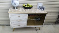 Inspired by this dresser, she pulled it home in a toy wagon and did this