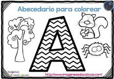 Abecedario para colorear listo para descargar e imprimir zig zag -Orientacion Andujar