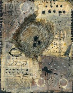 "art journal - expression through abstraction — Alicia Caudle, ""Nesting"", mixed media, collage Art Du Collage, Collage Art Mixed Media, Painting Collage, Acrylic Paintings, Art Altéré, Ecole Art, Encaustic Art, Inspiration Art, Wow Art"