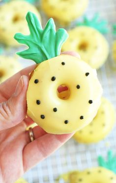 This recipe for Pineapple Donuts makes it easy to whip up sweet, delicious bites for your family this spring. Who knew your favorite breakfast baked good could get any cuter?!