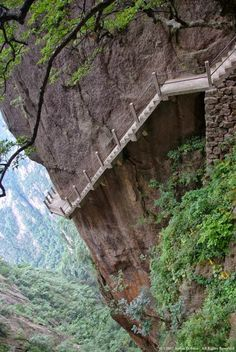 Cliff Path, Huangshan Mountain, China