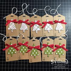 nutmeg creations: Fancy Friday - Quick & Easy Christmas Tags