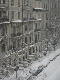 snow covered streets - new york