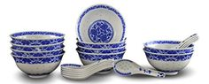 10 Pcs Fine Porcelain Blue and White Rice Pattern Bowls, Cereal Bowls, Rice Bowls with Free 10 Porcelain Spoons Jingdezhen China  - http://kitchen-dining.bestselleroutlet.net/product-review-for-10-pcs-fine-porcelain-blue-and-white-rice-pattern-bowls-cereal-bowls-rice-bowls-with-free-10-porcelain-spoons-jingdezhen-china-soup-bowl-fruit-bowl-set/