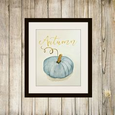 Free Blue Pumpkin Printable For Autumn | The Red Painted Cottage | Bloglovin'