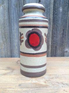 Vase vintage Scheurich W.Germany 30cm décor par VINTAGEorangeBAZAR