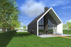 A barn type house Rural House, House In The Woods, Modern Barn, Modern Farmhouse, Modern Small House Design, Gable House, Arch House, Small Buildings, Shed Homes