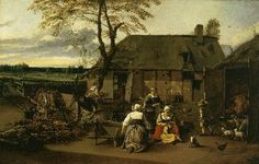 СИБЕРЕХТС, Ян (Siberechts, Jan) (1627 - 1703) - Двор фермы (1662, Musee Royaux des Beaux-Arts, Brussels, Belgium)
