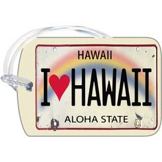 Souvenir Luggage Tag Hawaiian Art Luggage Tags