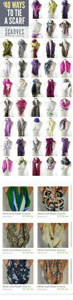 40 ways to tie a scarf maybe ill look less like a dork?