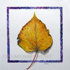 Watercolor Art Print Fall Leaves Art Fine by TaraAguilarFineArt