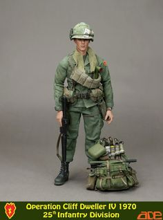 One Sixth Military Figure : ACE 25TH INFANTRY DIVISION (Vietnam)