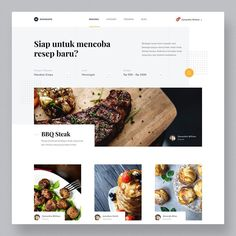 png by Dwinawan Web Design, Layout Design, Design Art, Food Cost, Website Layout, Interactive Design, Food Styling, Design Inspiration, Cooking