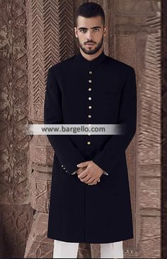 Prominent Cermony Sherwani in Cotton Dansville New York NY US Amir Adnan Sherwani Cermony Collection