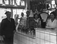 slagerij, pinned by Ton van der Veer Netherlands Food, North Sea, Visual Merchandising, Black And White Photography, Vintage Photos, Holland, Amsterdam, Dutch, The Past